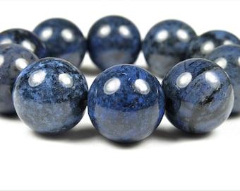 Denim Blue Dumortierite Round Bead - 12.7~12.8mm - 10 beads - B7608