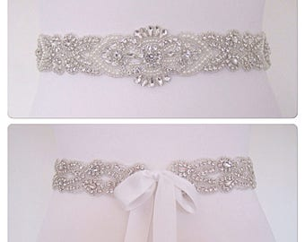 All around wedding belt, all around bridal belt, wedding dress belt