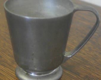 vintage english pewter cup mug
