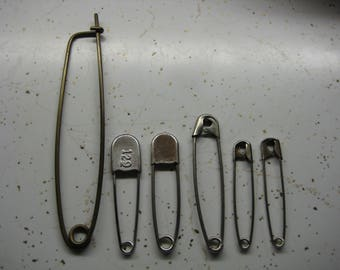 Assorted Lot Large Safety Pins
