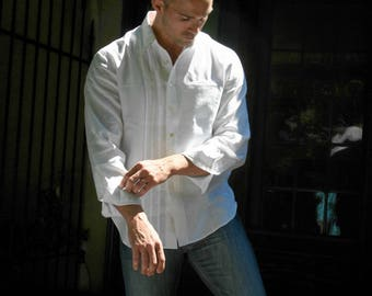 Mens Linen Shirt Custom and Handmade for todloofbourrow