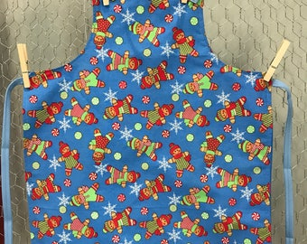 Gingerbread Man Childs Apron