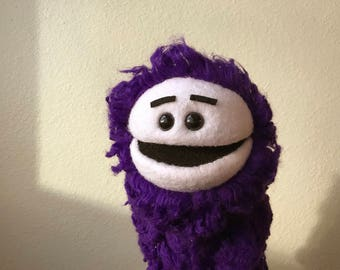 Purple Monster Creature Hand Puppet