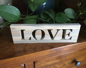 Love Sign - Rustic Signs - Love - Rustic Love Wood Words Sign - Rustic Home Decor - Farmhouse Sign - Rustic Home - Wall Hanging