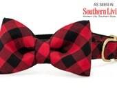 Crew LaLa™ Buffalo Plaid Bow Tie Dog Collar