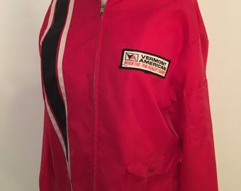 Racing Hot Red Windbreaker Medium Men's