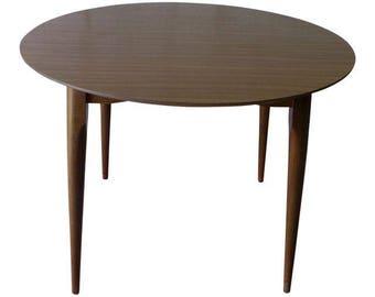 WALNUT Mid Century Modern Round DINING TABLE