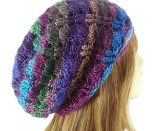 Womens Colorful Slouchy Beanie Womens Boho Hats Multi Color Womens Boho Slouchy Beanie Lacy Womens Slouchy Beanies Hippie Hats Free Shipping