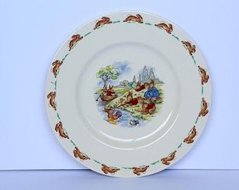 Royal Doultan Bunnykins PICNIC Plate Vintage