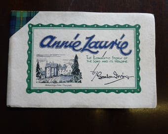 VINTAGE Booklet SCOTLAND 1950s Annie Laurie Story Song Music Maxwellton Braes are Bonnie Lady Scott