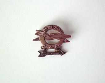 Vintage Junior Yeoman C.A.A., Archery Pin, Bronze Tone