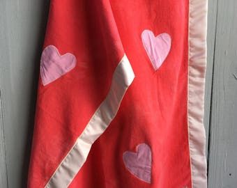 Organic Cotton Fleece Baby Blanket, Valentine's Day Blanket