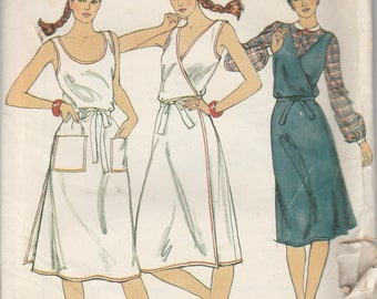 1970's Sewing Pattern Butterick 3726 Misses dress or jumper bust 34, 36, 38