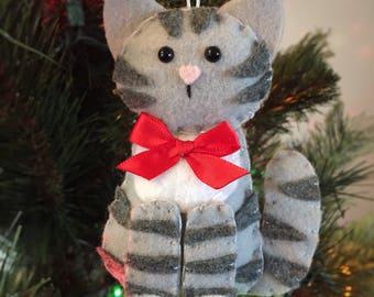 Cat Ornament - Personalized Ornament - Cat Gift - Christmas Ornament - Tabby Cat - Kitten Ornament - Crazy Cat Lady - Pet Memorial