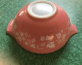 Reserved for Kathy Carusio - Small and Large Pink Pyrex Bowls