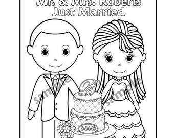 Wedding Coloring Book Template - Periodic Tables
