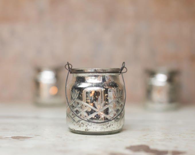 Handmade Silver Hanging Tealights