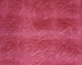 "Leather CLOSEOUT size 2 pieces 8""x10"" BRAIDED Fuchsia / Raspberry Distressed Basket WEAVE Cowhide #355 2.5-3 oz / 1-1.2 mm PeggySueAlso™"