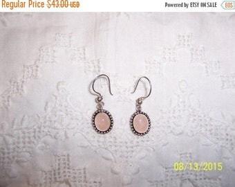 TWICE A YEAR, 25% Off Vintage Rose Quartz dangle earrings. Sterling silver.