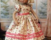 Rose Print Dress for Dianna Effner 13 Inch Little Darling Doll