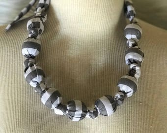 Striped Bauble Necklace