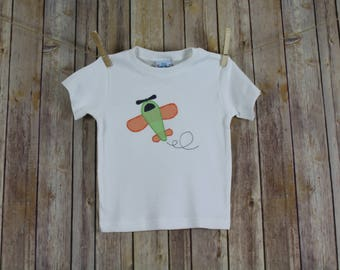 Baby Airplane Applique Shirts for Boys, Vintage Style Airplane Shirt, Airplane Baby Shower Gift, Toddler Boy Shirts