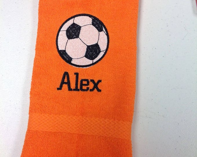 Soccer, Personalized soccer towel, fast turn around, great seller, soccer team towels, soccer gift