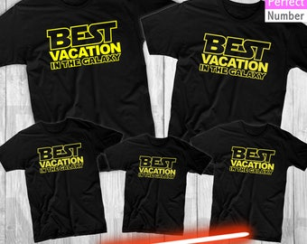 Disney Star Wars Inspired  Best Vacation In the Galaxy Family Vacation T-shirts  Animal Kingdom, Magic Kingdom, Epcot, Hollywood Studios