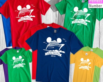 Disney Cruise Family Vacation  2018 Matching T-shirt Ship Micckey Ears 2018