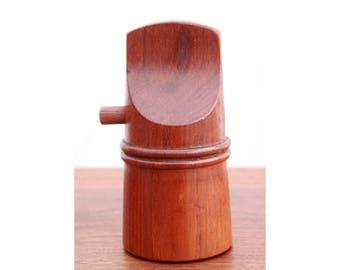 Vintage Mid Century Danish Modern Dansk Jens Quistgaard Teak Pepper Mill - Sculpted Teak Combination Salt Shaker & Pepper Grinder