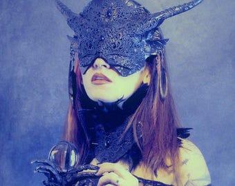 Veiled Gothic Venetian mask