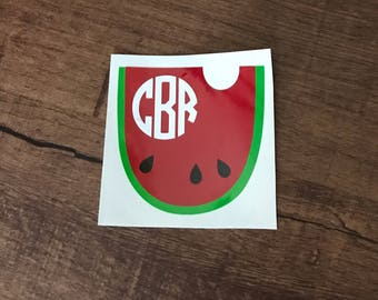 Monogram Watermelon Decal