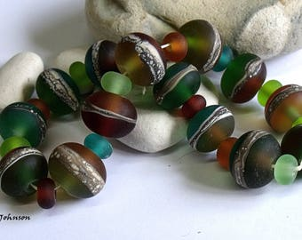 Summer Hedgerow, Lampwork Beads, SRA, UK