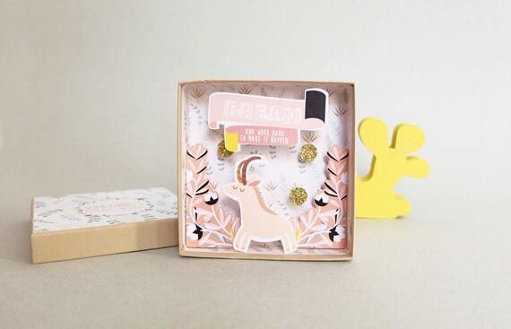 Dream big message box  / Miniature Art / Diorama / 3d Art / Decorative Matchbox / Miniature paper diorama / Friend message