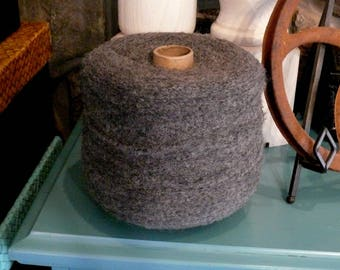 Sale!  2.2 Pounds!  Over 7000 Yards!  Jumbo Charcoal 100% Alpaca Two Ply Boucle Lace Weight!