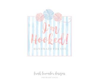 Custom Logo Design-Crochet Logo-Knitting Logo-Sewing Logo- Logo with Yarn-Premade Logo- Custom Logo- Business Card
