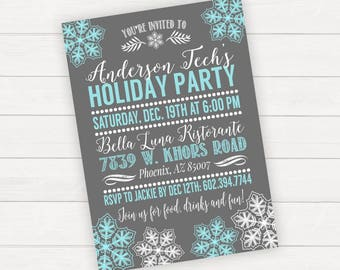 Holiday Party Invitation Holiday Party Invite Christmas Party Invitation Christmas Party Invite Winter Party Invitation Winter Wonderland
