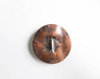 Copper brooch, Contemporary copper brooch, fold formed copper, Modernist copper brooch, Contemporary jewelry, handmade jewelry