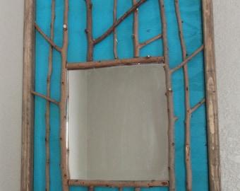 "Twig Mirror 19-1/4"" x 13-1/2"""