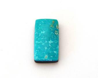 Sonoran Blue Turquoise Designer Cabochon Gemstone 11.7x21.9x5.3 mm Free Shipping