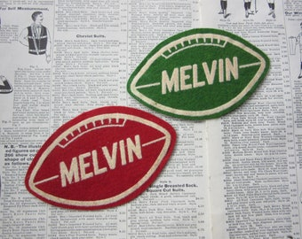 Vintage Name Patch Melvin Football Price per (1) Patch 1950s Era Felt Patch Varsity High School Jacket Coat Patch College Sports 50s Vintage