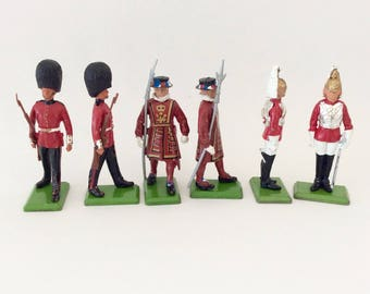Britains New Metal Models - Britain's LTD soldiers - Made in England - metal with plastic accessories - Hand painted - collectible  - 70s
