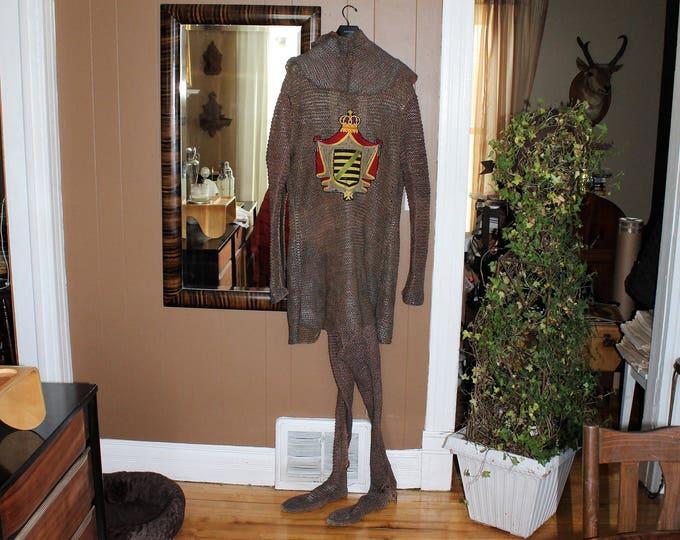Antique Masonic Knights Templar Rennaissance Costume Chain Mail