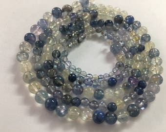 Natural blue sapphire beads balls Burma blue white yellow blue sapphire beads size mm WHOLESALE LOT