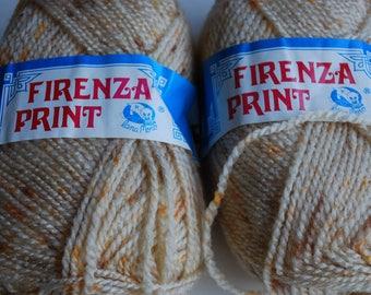 2 skeins Lana Moro Firenza Print  vintage yarn