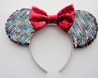 COCO Mouse Ears / Coco Ears / Rainbow Disney Ears / Disney Mouse Ears / Mickey Mouse / Minnie Mouse / Minnie Mouse Ears / Birthday Headband