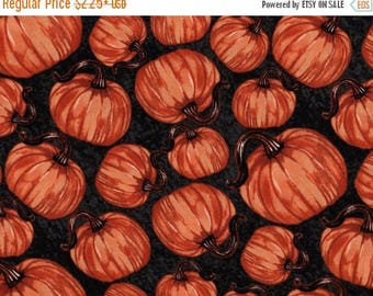 ON SALE Pumpkins, Harvest Fabric, Pumpkin Fabric, Autumn  Fabric, Thanksgiving Fabric, Fall Fabric, Autumn Friends by Blank Quilting, 01003