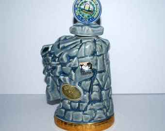 Ezra Brooks decanter  Old man in the mountain decanter bourbon decanter