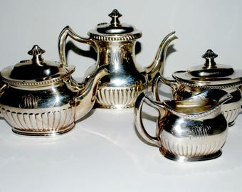 Reed and Barton silver plate coffee  and tea set vintage silver set