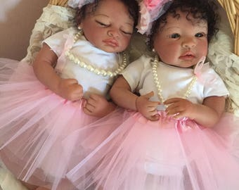 From the Biracial Shyann Kit Twin Girls Sadie and Sabrina Completed Dolls